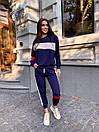 Женский спортивный костюм с укороченными штанами на манжетах и свободной кофтой (р. 42-44) 78so1088, фото 4