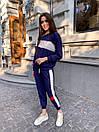 Женский спортивный костюм с укороченными штанами на манжетах и свободной кофтой (р. 42-44) 78so1088, фото 6