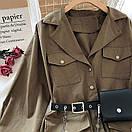 Платье - рубашка из коттона с ремнем кошельком и накладными карманами (р. 42-44) 68py1612, фото 5