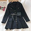 Платье - рубашка из коттона с ремнем кошельком и накладными карманами (р. 42-44) 68py1612, фото 6