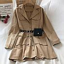 Платье - рубашка из коттона с ремнем кошельком и накладными карманами (р. 42-44) 68py1612, фото 7