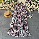 Длинное платье - рубашка на пуговицах с восточным принтом, пояс в комплекте (р. 42-46) 68py1614, фото 2