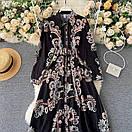 Длинное платье - рубашка на пуговицах с восточным принтом, пояс в комплекте (р. 42-46) 68py1614, фото 5