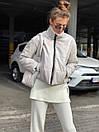 Женская демисезоннная кожаная куртка на утеплителе с воротником стойкой (р. 42, 44, 46) 83kr444, фото 6
