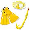 Набор для плавания INTEX «Мастер Класс» ласты, маска и трубка от 8 лет (55655)