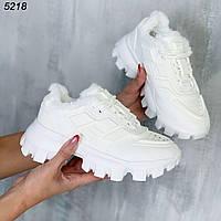 Кроссовки женские белые Зима 5218, фото 1