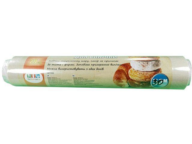 Пергаментний папір для випічки 30м 29см коричнева Віват