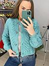 Женская вязаная кофта на пуговицах в расцветках (р. 42-46) 33sv907, фото 5