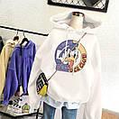 Женское теплое худи оверсайз с рисунком DOmdLD DUCK CLUB (размер 42-46) 68sv909, фото 3