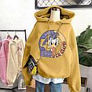 Женское теплое худи оверсайз с рисунком DOmdLD DUCK CLUB (размер 42-46) 68sv909, фото 4