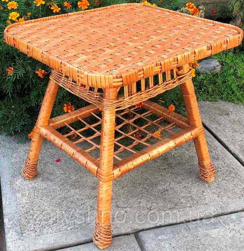 Плетеный стол прямоугольный ( 90*60)