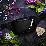 Женская напоясная сумка бананка тесно-серая графит на пояс, через плечо кожзам, матовая экокожа, фото 4
