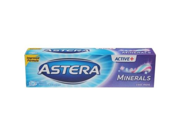 Зубна паста Astera Active+Minerals (з мінералами) 100 мл