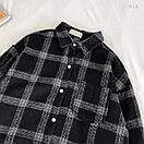 Женская теплая фланелевая рубашка в клетку удлиненная, в едином размере 42-46 77ru413, фото 3