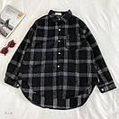 Женская теплая фланелевая рубашка в клетку удлиненная, в едином размере 42-46 77ru413, фото 4