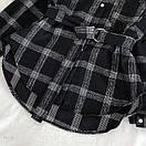 Женская теплая фланелевая рубашка в клетку удлиненная, в едином размере 42-46 77ru413, фото 5