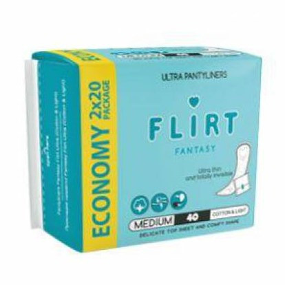 Ежедневн. прокл. Flirt Fant Ultra cotton/light (в инд уп) 40 шт (3800213309580)