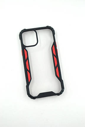 Чехол iPhone 7 /8 Silicon Vitrazh black/red, фото 2