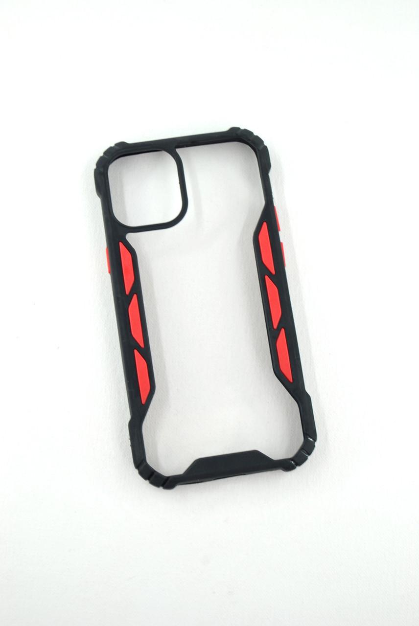 Чехол для телефона iPhone 12ProMax Silicone Vitrazh black/red
