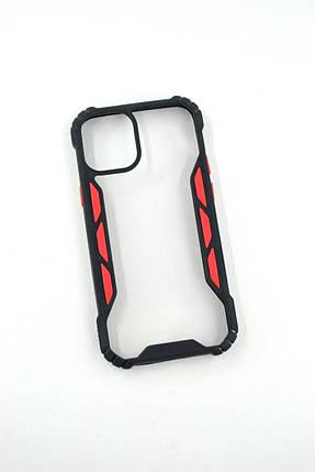Чехол для телефона iPhone 12ProMax Silicone Vitrazh black/red, фото 2