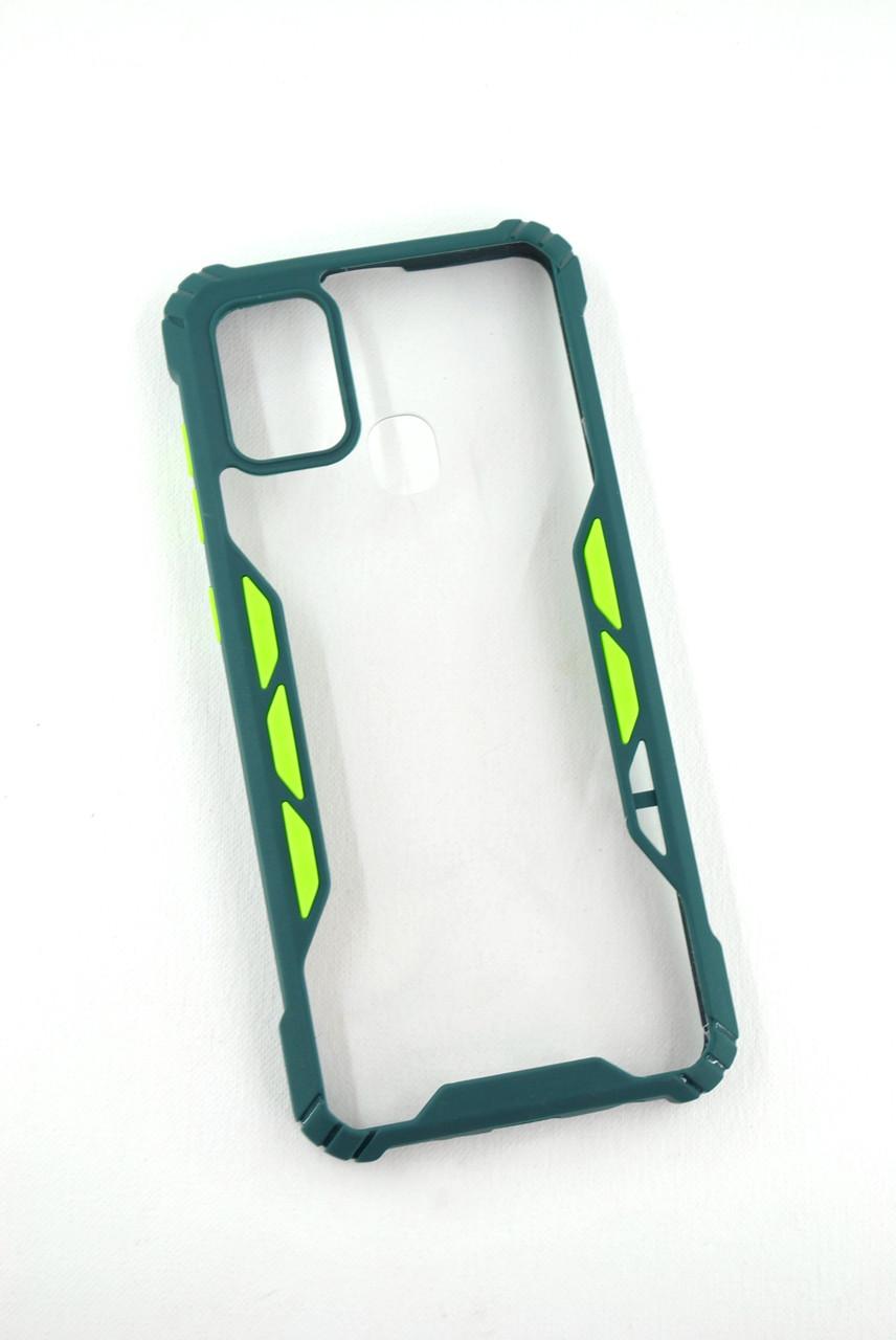 Чохол для телефону Huawei Y6P (2020) Silicone Vitrazh dark green / green