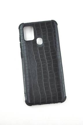 Чехол Samsung A21/A215 Silicon Reptile Black, фото 2