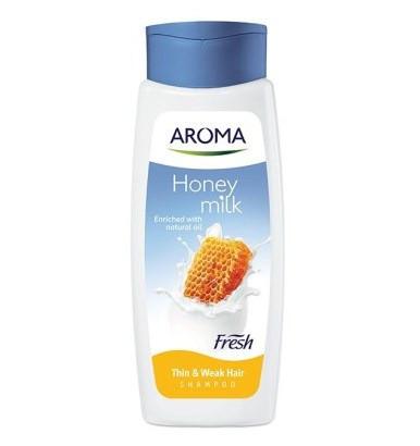 Шампунь Aroma Fresh Shampoo Honey Milk для тонких ослабленых волос 400 мл (3800013527979)