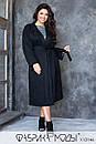 Женское замшевое Пальто с накладными карманами и съемным поясом (без подкладки) в больших размерах 1blr785, фото 2