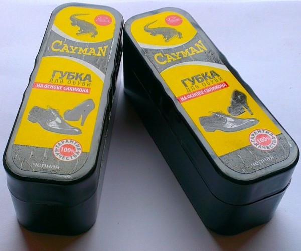 """Губка для взуття """"Класик"""" чорна CAYMAN"""