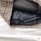 Женская буклированная юбка в клетку на запах с поясом 77jus436, фото 2