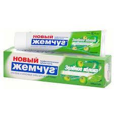Зубная паста Новый жемчуг  100гр Зеленое яблоко+Отбелка (4600697171302)