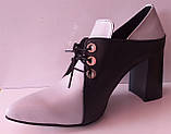Туфли женские на удобном каблуке из натуральной кожи от производителя модель КС2089-2, фото 3