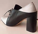 Туфли женские на удобном каблуке из натуральной кожи от производителя модель КС2089-2, фото 5