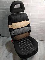 Ортопедическая подушка массажер EKKOSEAT под спину на автомобильное кресло со съемной массажной накидой