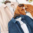 Женская свободная вельветовая рубашка оверсайз в расцветках (р. 42-46) 78bir410, фото 4