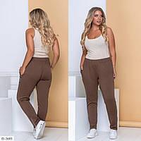 Удобные женские спортивные брюки двунитка больших размеров 48-62 арт 3032, фото 1