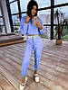 Женский спортивный костюм из плащевки со светоотражающими вставками 66msp1086Е