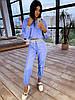 Жіночий спортивний костюм з плащової тканини зі світловідбиваючими вставками 66мѕр1086Е