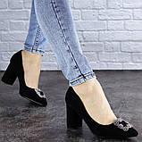 Женские туфли на каблуке черные Angie 1921 Размер 37 - 24 см, фото 4