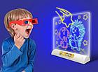 Детская развивающая  с LED подсветкой Magic Drawing Board Line, фото 3