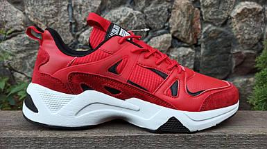Мужские кроссовки Baas красные (41-46 р.) M7008-8