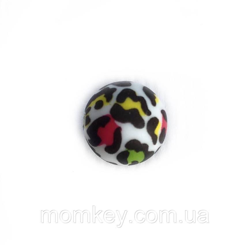 Круглая 12 мм (цветной леопард)