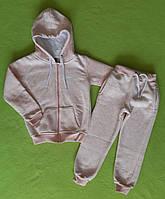 Теплий дитячий спортивний костюм репліка Air рожевий пудра розмір 110-116