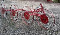 Грабли солнышко для минитрактора Виракс Wirax (Польша, 4 колеса)