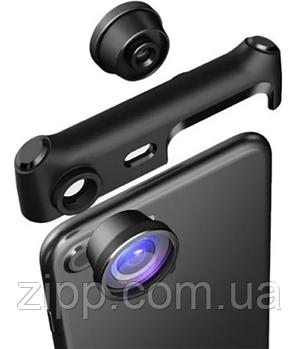 Панорамный объектив на телефон 360°, линзы для телефона, Объектив оптика для телефона