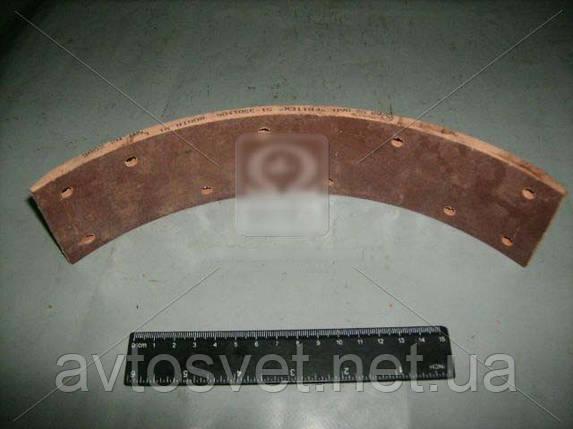 Накладка торм. ГАЗ 51,52,53 передн. корот. сверл. (пр-во Фритекс) 51-3501106, фото 2