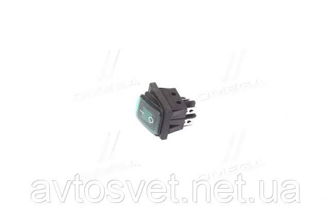 Переключатель клавишный герметичный ON/OFF 4к-т., подсветка LED (12V), зеленый 12V (пр-во Китай) 28002100, фото 2