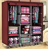 Складной тканевый шкаф Storage Wardrobe 88130, шкаф тканевый + вешалка Wonder Hanger в подарок!, фото 3
