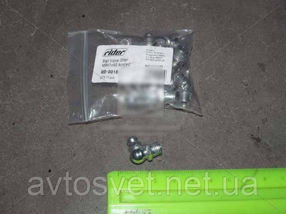 Прес-маслянка М8х1х90 кутова (10шт) (RIDER) RD-0018, фото 2