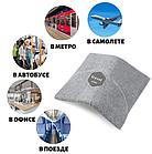 Подушка-шарф для подорожей Travel Pillow Gray, фото 6
